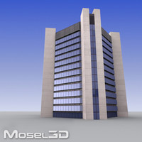 3d tall office building model