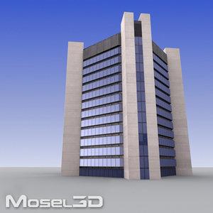 3d tall office building model