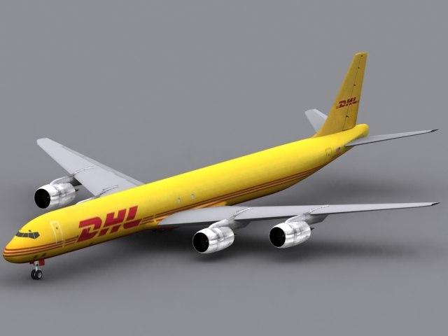 max dc-8-73 dhl airplane