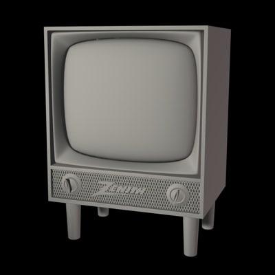 1950 tv 3d model