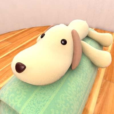 3d model stuffed dog
