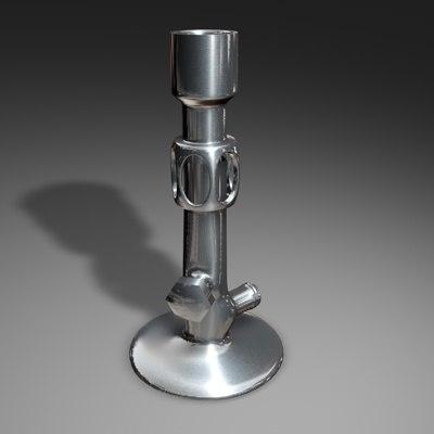 bunsen burner 3d model