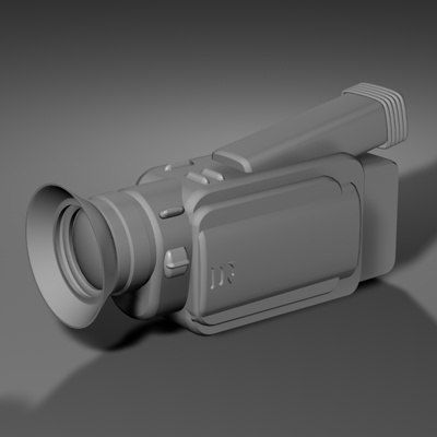 camcorder camera 3d model
