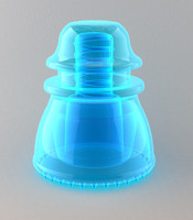 3d glass insulator