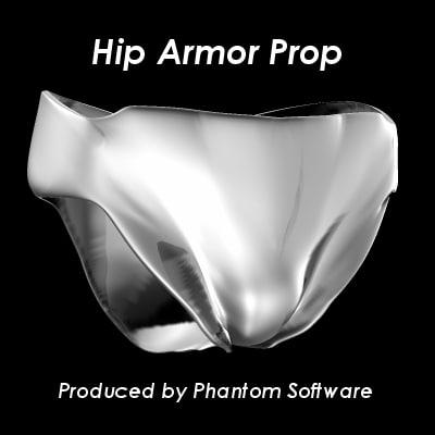 hip armor 3d obj