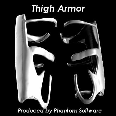 3d model thigh armor