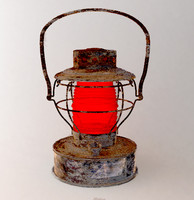 railroad lantern 3d model