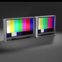 tv hdtv 3d c4d