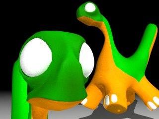 dino cartoon 3d model