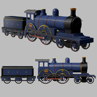 antique locomotive engine 440 3d model