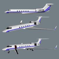 gulfstream v business jet 3d model