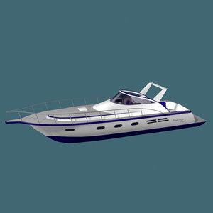 yacht power boat 3d model