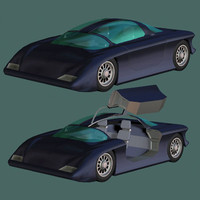 3ds max prototype 2 futuristic car