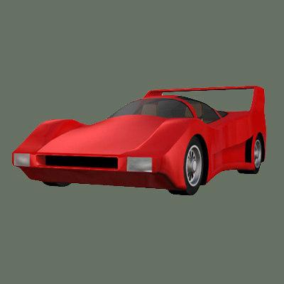 prototype 3 futuristic car 3d 3ds