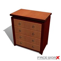 chest drawers 3d max