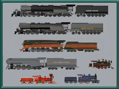 3d model trains set res