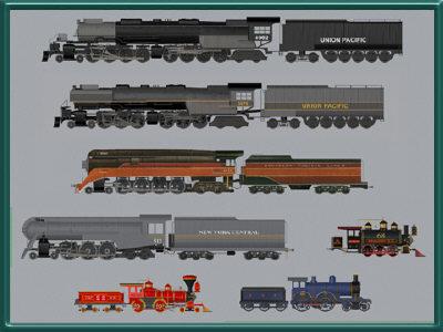 3d model trains set res