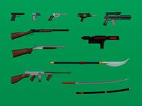 weapons set res 3d model