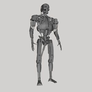 terminator robot cyborg 3d model