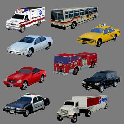 3dsmax cars set