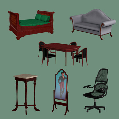 imagination furniture 3d model