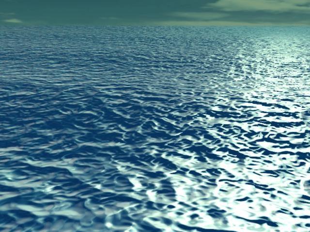 wave sea animation 3d model
