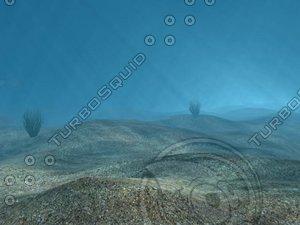 underwater caustics 3d model