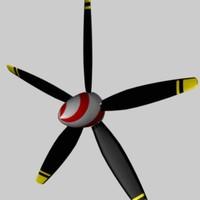 props airscrews 3d c4d