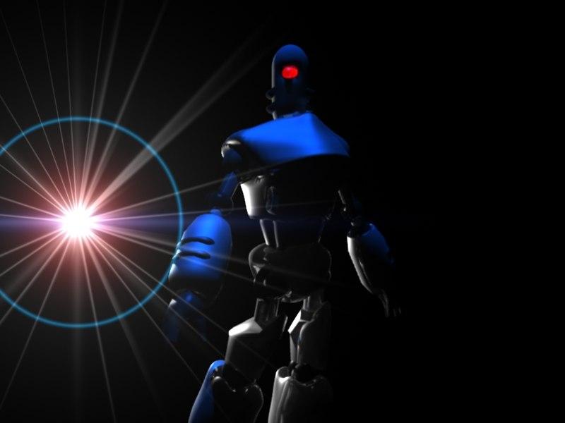 3d lwo robot humanoid