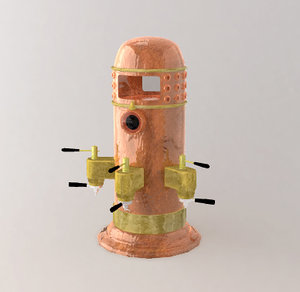 antique expresso maker 3d lwo