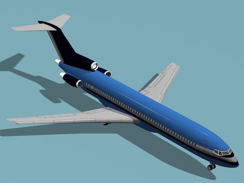 3d b 727-200