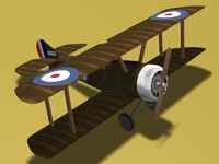 3d sopwith pup fighter model
