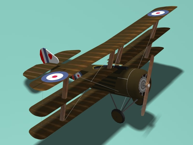 3ds sopwith triplane fighter