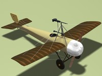 caproni ca 20 fighter 3d c4d