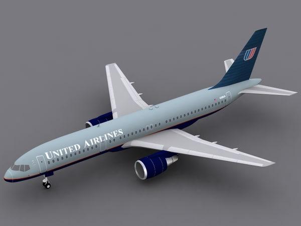 3d model b 757-200 united airlines