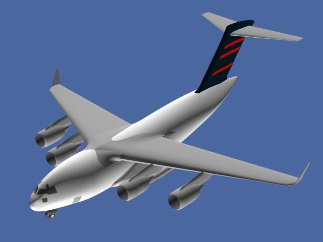 md-17 transportation aircraft 3d max