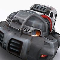 hover truck 3d model