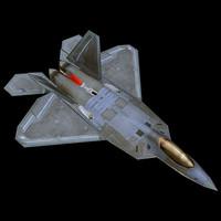 aircraft f-22 air 3d model
