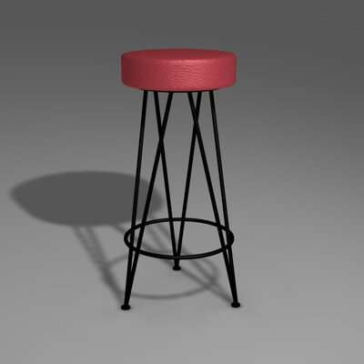 3ds max stool chair furniture