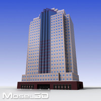 3d model of tall office building