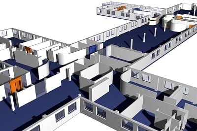 office plan interior furniture 3d model
