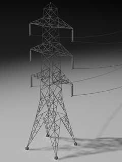3d c4d power lines