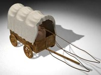 c4d wood stagecoach