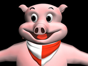 toon pig 3d lwo