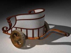3d c4d ancient roman chariot