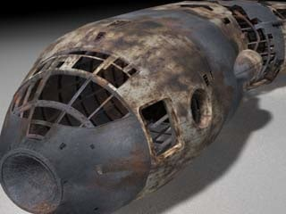 3d model spaceship wreck