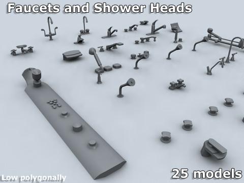 faucets 3d model