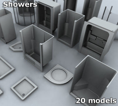 showers appliances 3d model