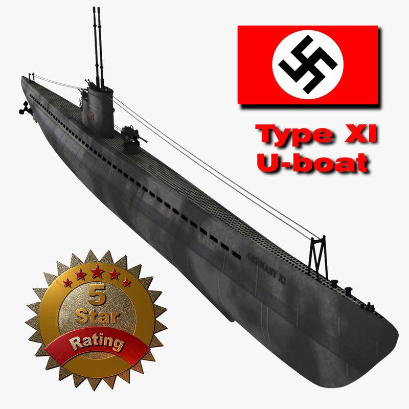 world war u-boat 3d model