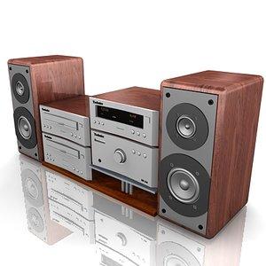 technics cd player 3d model